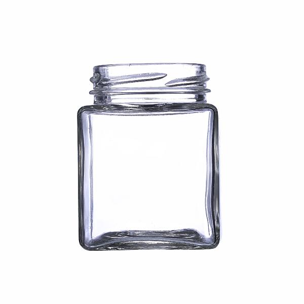 200ml Glass beveled edge jars